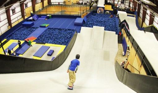 Top of the Snowflex ramps