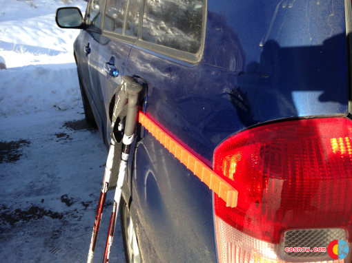 Ski Bumper Version 1 on our RAV 4
