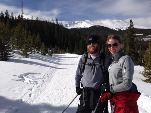 Devin and Rachel near Hallelujah Hut in Breckenridge