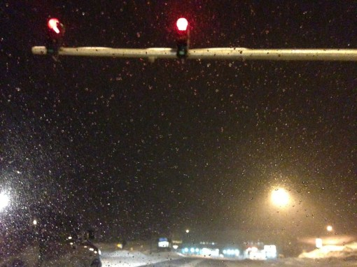 Red lights at the Eisenhower Tunnel