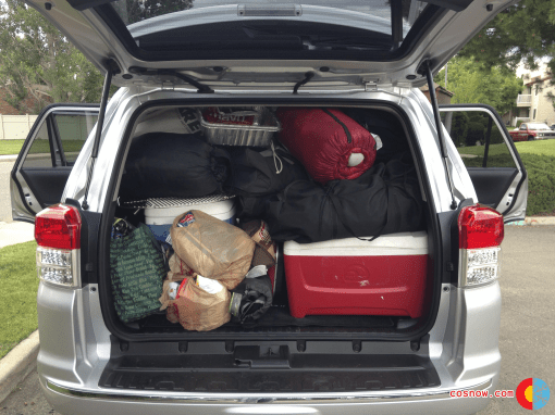 Full trunk in the 4Runner