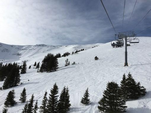 Looking up Peak 6 (Kensho SuperChair) at Breckenridge