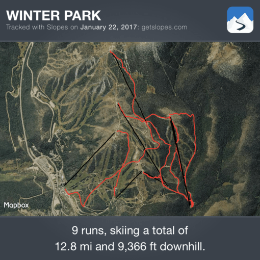Slopes map January 22, 2017
