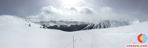 Dramatic scene at the top of Rendezvous lift at Copper Mountain