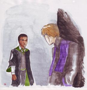 Zabini incontra Quirrelmort by dinosaurusgede