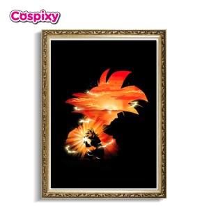 Saiyan Goku Poster Framed