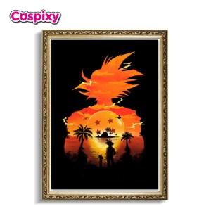 Son Goku Poster Framed