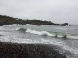 Waves like this make diving a bit dangerous