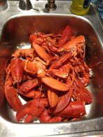 cooked lobster parts