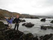 Of course, we had to take a pit stop on our drive for some tidepooling!