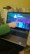 My new shiny Dell! Did I mention it was touch screen! Hello 21st century!