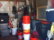 "Just some of the contents of our lab's outdoor storage shed… the ""scientific equipment"" we marine ecologists use."