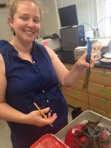 Kylla Benes measuring fucus reproductive effort.