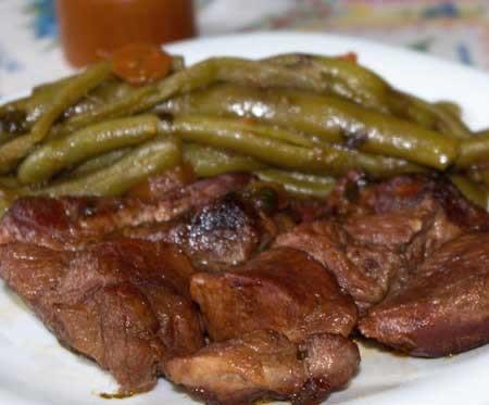 Carne cu fasole verde