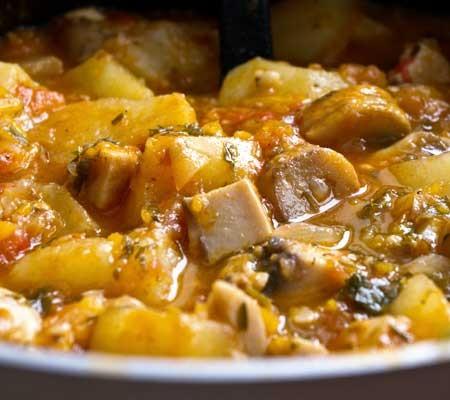 Mancare de cartofi cu ciuperci