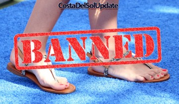 Malaga Airport Bans Shoes