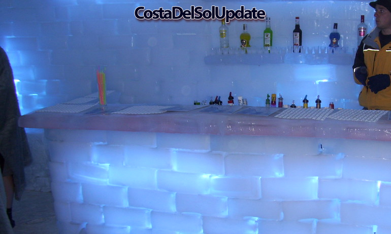 Benalmadena Ice Bar Inside