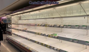 Shortages Lead To Panic Buying In Spain