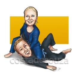 caricatura jiu-jitsu costa_de_souza