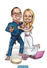 caricatura casamento online jiu-jitsu