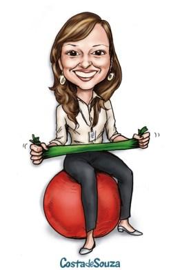 caricatura professora academia física