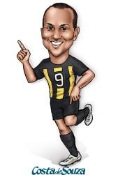 caricatura jogador futebol