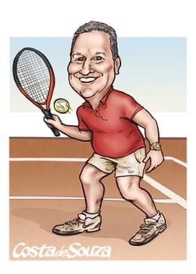 caricatura presente tenista natal