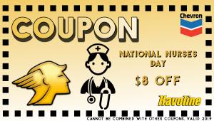 Nurses Day Oil Change
