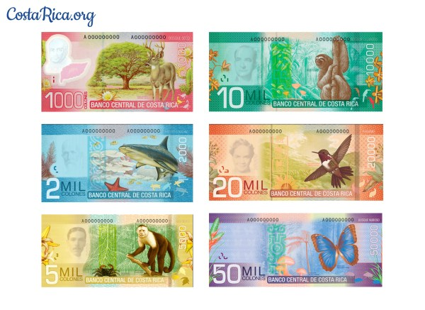 Costa Rica currency bills