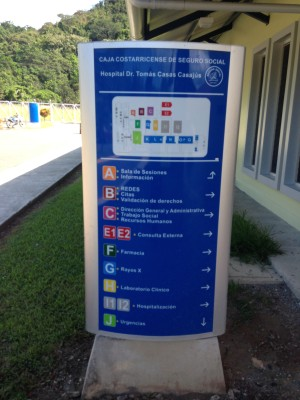 costa rica healthcare sign