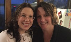 LILA Parents Jeanine Halverson and Annie Moorman enjoying the evening.