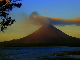 Sunset colors Arenal