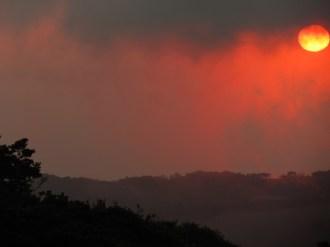 pink and orange sky over Monteverde