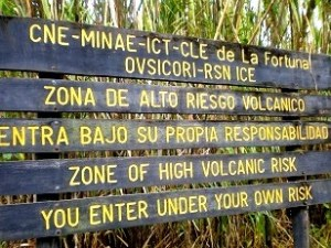 Arenal Volcano National Park Warning