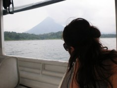 Nikki - View of the Arenal Volcano from Arenal Lake on the return trip