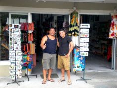 Ricky - with Meynor, owner of Morpho Souvenir