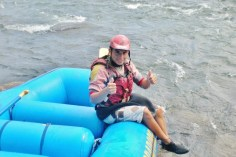 Ricky; rafting the Sarapiqui River