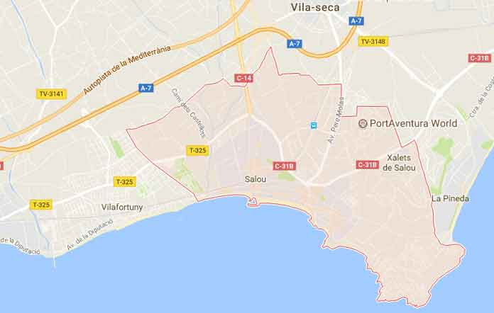 Mapa of Salou