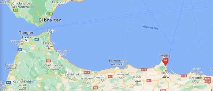 Map of Ceuta & Melilla