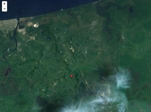 La localidad de Acalapa Dos (Kilómetro 17) está situado en el Municipio de Moloacán (en el Estado de Veracruz de Ignacio de la Llave). Tiene 485 habitantes. Acalapa Dos (Kilómetro 17) está a 50 metros de altitud. Es el punto donde se localizó el cráter que emana vapor y azufre.