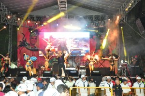 Con alegría, comparsas, bailes y un ambiente de fiesta, inició el Carnaval de Veracruz 2014 en el Zócalo de la ciudad, donde se congregaron miles de lugareños para presenciar la tradicional Quema del Mal Humor, el cual fue representado por el bullying.