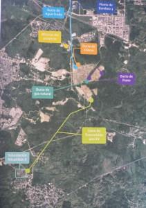 Vista áerea de la subestación Mina II y la línea de transmisión de 400 kv para que Braskem-Idesa pueda arrancar operaciones en el 2015.
