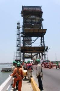 Accidente en la obra del Puente Coatzacoalcos I