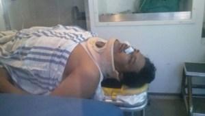 Uno de los lesionados, heridos de bala en Nuevo Pemex. (Foto cortesía Tabasco Hoy)