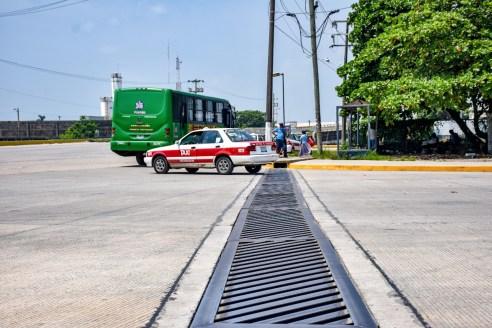 Pavimento hidráulico en la Avenida Juan Osorio