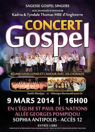 Concierto Gospel Sophia Antipolis