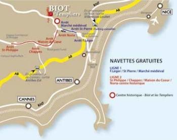 Biot y los templarios mapa