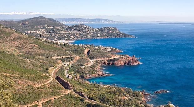 Cuatro carreteras de la Costa Azul, las más bellas de Francia