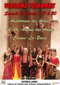 Concierto violines cingaros Cannes