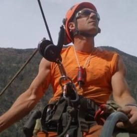 Alex Delgado, en las alturas